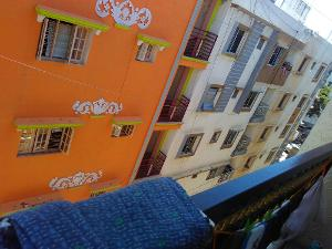 1 BHK Flat for Rent in Shree Gokulam Residency, BTM Layout | View From Balcony