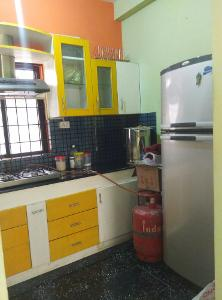 2 BHK Flat for Rent in Himagiri Meadows, Bannerghatta Road | Chimney, Kitchen Cabinets Fully Furnished, Refrigerator