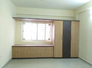 3 BHK Flat for Rent in Satya Greens Apartment, Kodigehalli | Table, Wardrobe, Wardrobe Fully Furnished