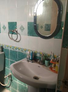 2 BHK Flat for Rent in Santara Magan Place, Hulimavu | Mirror, Wash Basin, Inside Bathroom